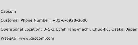Capcom Phone Number Customer Service
