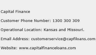 Capital Finance Phone Number Customer Service