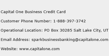 Capital one business credit card customer service phone for Capitalone business card