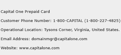 Capital One Prepaid Card Phone Number Customer Service