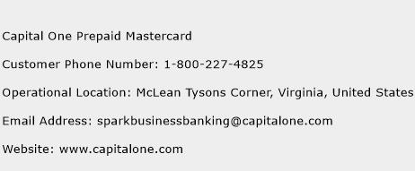 Capital One Prepaid Mastercard Phone Number Customer Service