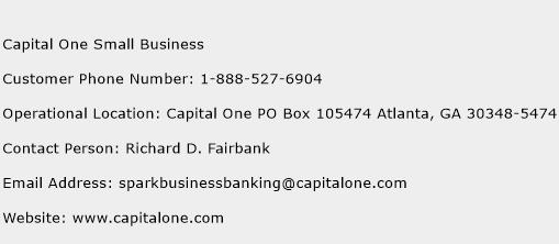 Capital One Small Business Phone Number Customer Service