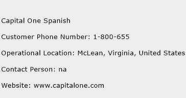 Capital One Spanish Phone Number Customer Service
