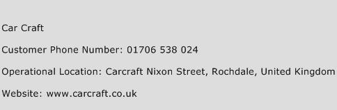 Car Craft Phone Number Customer Service
