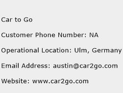 Car to Go Phone Number Customer Service