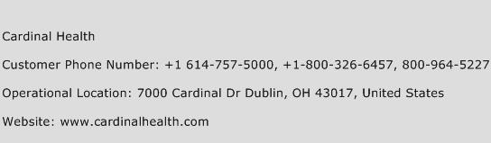 Cardinal Health Phone Number Customer Service