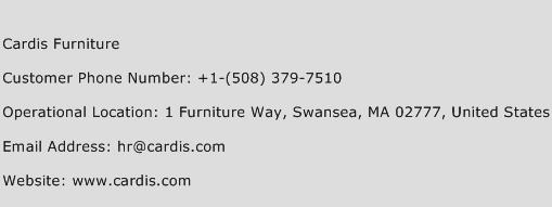 Cardis Furniture Phone Number Customer Service
