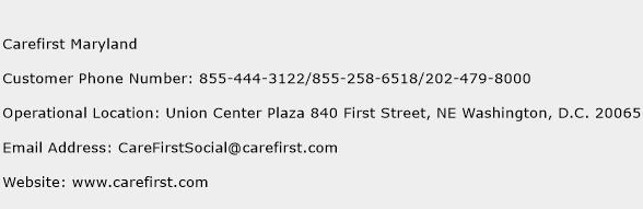 Carefirst Maryland Phone Number Customer Service
