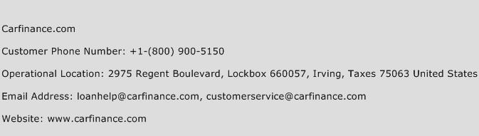 Carfinance.com Phone Number Customer Service