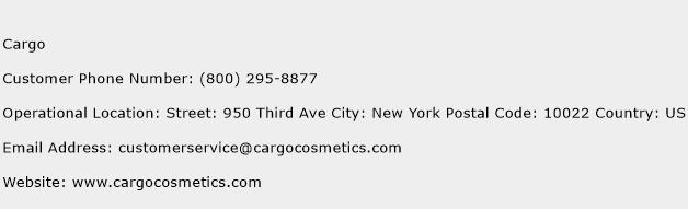 Cargo Phone Number Customer Service