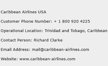 Caribbean Airlines USA Phone Number Customer Service