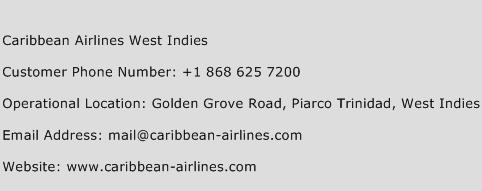 Caribbean Airlines West Indies Phone Number Customer Service