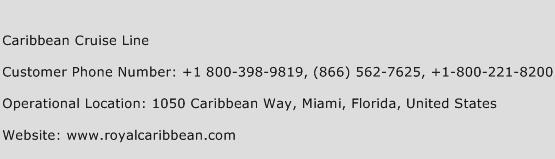 Caribbean Cruise Line Phone Number Customer Service