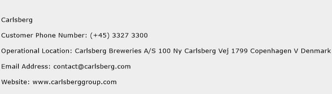 Carlsberg Phone Number Customer Service