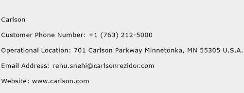 Carlson Phone Number Customer Service