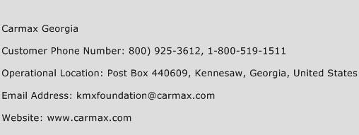 Carmax Georgia Phone Number Customer Service
