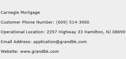 Carnegie Mortgage Phone Number Customer Service