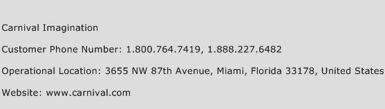 Carnival Imagination Phone Number Customer Service