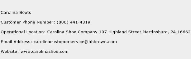 Carolina Boots Phone Number Customer Service