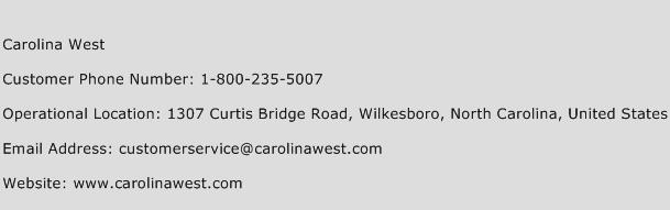 Carolina West Phone Number Customer Service