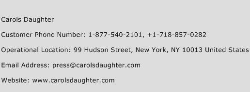 Carols Daughter Phone Number Customer Service