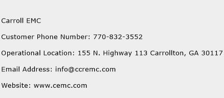 Carroll EMC Phone Number Customer Service