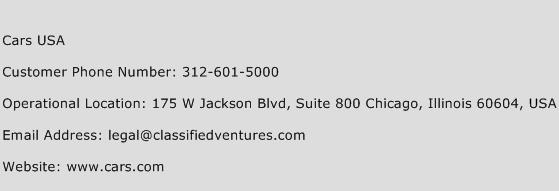 Cars USA Phone Number Customer Service