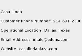 Casa Linda Phone Number Customer Service