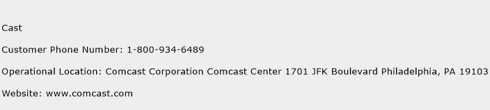 Cast Phone Number Customer Service