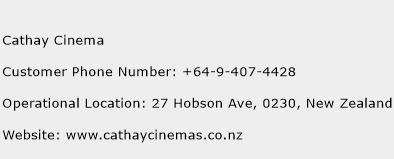 Cathay Cinema Phone Number Customer Service