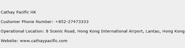 Cathay Pacific HK Phone Number Customer Service