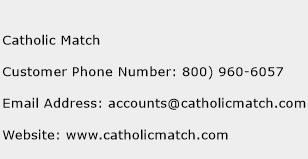 Catholic Match Phone Number Customer Service