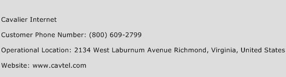 Cavalier Internet Phone Number Customer Service