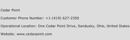 Cedar Point Phone Number Customer Service