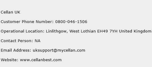 Cellan UK Phone Number Customer Service