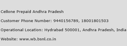 Cellone Prepaid Andhra Pradesh Phone Number Customer Service