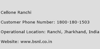 Cellone Ranchi Phone Number Customer Service