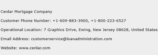 Cenlar Mortgage Company Phone Number Customer Service