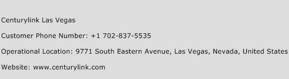 Centurylink Las Vegas Phone Number Customer Service