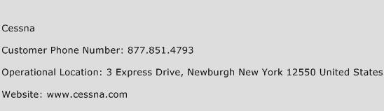 Cessna Phone Number Customer Service