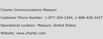 Charter Communications Missouri Phone Number Customer Service