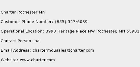Charter Rochester Mn Phone Number Customer Service