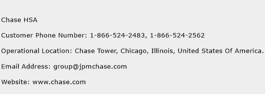 Chase HSA Phone Number Customer Service