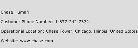 Chase Human Phone Number Customer Service