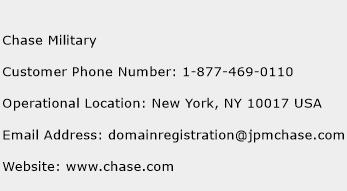 Chase Military Phone Number Customer Service