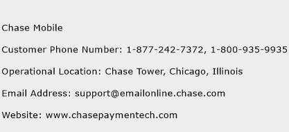 Chase Mobile Phone Number Customer Service