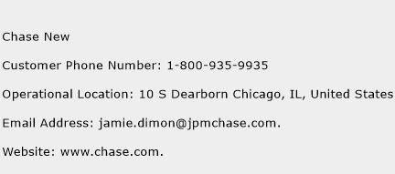 Chase New Phone Number Customer Service