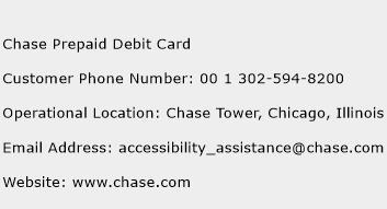 Chase Prepaid Debit Card Phone Number Customer Service
