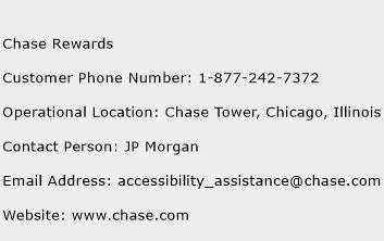 Chase Rewards Phone Number Customer Service