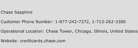 Chase Sapphire Phone Number Customer Service